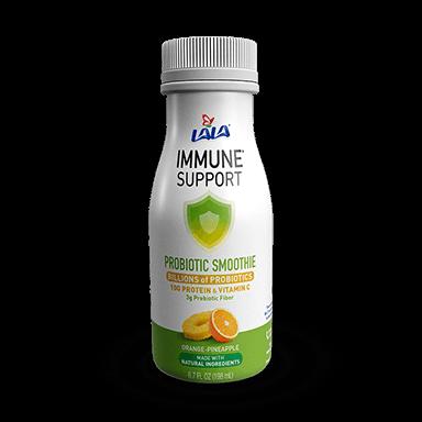6.7 OZ LALA® Probiotic Yogurt Smoothie Immune Support™ Orange Pineapple - LALA Foods