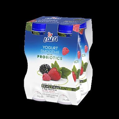 7 oz - 4 pack Mixed Berry LALA® Yogurt Smoothie - LALA Foods