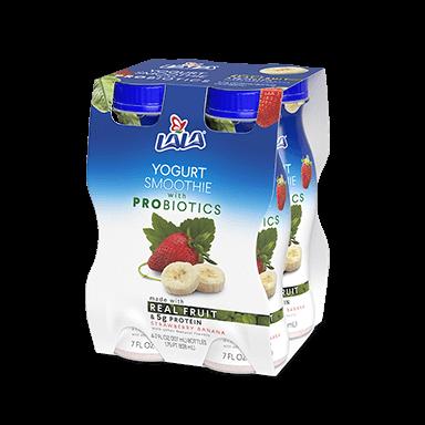 7 oz - 4 pack Strawberry Banana LALA® Yogurt Smoothie  - LALA Foods