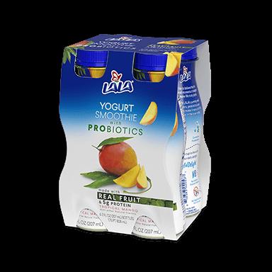 7 oz - 4 Pack Tropical Mango LALA® Yogurt Smoothie  - LALA Foods
