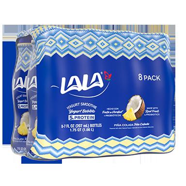 7 oz - 8 pack Pina Colada LALA® Yogurt Smoothie  - LALA Foods